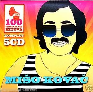 5CD MISO KOVAC  100 ORIGINALNI?H PJESAMA compilatio?n 2015 digipak gold audio