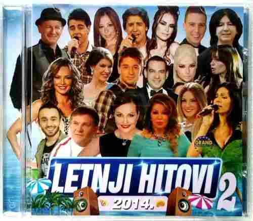 CD LETNJI HITOVI 2  COMPILATION 2014 GRAND PRODUCTION SERBIEN BOSNIEN KROATIEN
