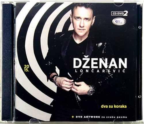 CD+DVD DZENAN LONCAREVIC DVA SU KORAKA + DVD ARTVORK ZA SVAKU PESMU Album 2015