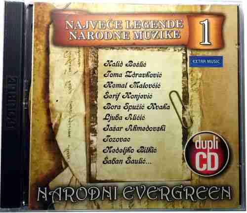 2CD NARODNI EVERGREEN  NAJVECE LEGENDE NARODNE MUZIKE Bosnian Croatian  Serbian