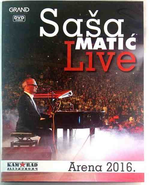 DVD SASA MATIC LIVE ARENA 2016 grand production ko te ljubi ovih dana novo folk