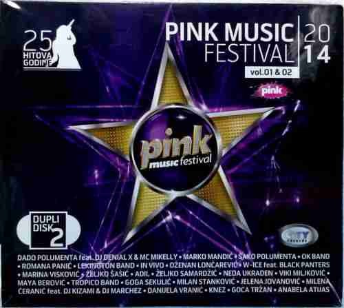 2CD PINK MUSIC FESTIVAL 2014 compilation 25 hitova godine serbia city records