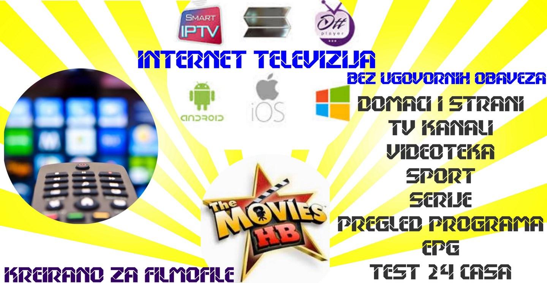 IPTV INTERNET TELEVIZIJA TV KREIRANO ZA FILMOFILE + KANALI UZIVO DOMACI I STRANI EPG