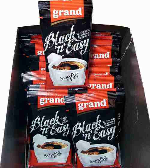 GRAND KAFA Black n Easy 70pcs instant crna kafa prakticna primena Turkish coffee